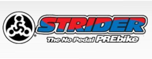 Older red and blue Strider logo
